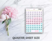 Pastel Date Dots Stickers (perfect for planners)