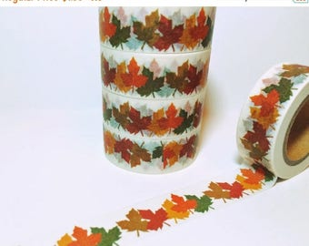 35% OFF The entire Store Gathered Fall Leaves, Oak Leaves, Autumn, Washi Tape