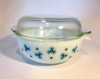 Phoenix Atomic Snowflake casserole / serving dish with lid – original from the 1960s