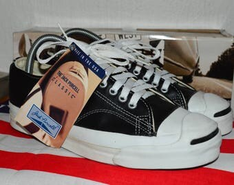 converse jack purcell vintage rare leather deadstock OG made in usa 8 nwb