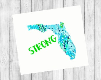 Florida Strong, Relief for Florida, Florida Decal, 100% of Profits will go to aid Florida hurricane victims , Cup Decal, Window Decal