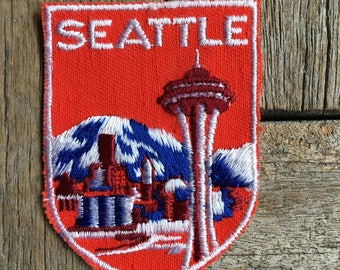 Seattle, Washington Vintage Souvenir Travel Patch from Voyager