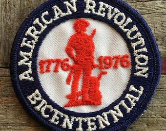 American Revolution Bicentennial Vintage Souvenir Travel Patch, a Trailblazer Emblems by B&B Enterprises