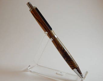 Easter gift, ballpoint click pen, ballpoint bacote wood pen, ballpoint pen with chrome metal, brown ballpoint pen, black ballpoint pen