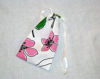 DrawString cotton pouch printed double-sided 20 x 11, 5cm