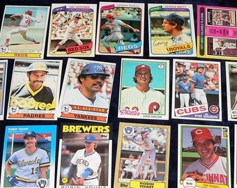 1970s & 80s Mega Lot Baseball Card Starter Collection 90 Superstar Cards!!