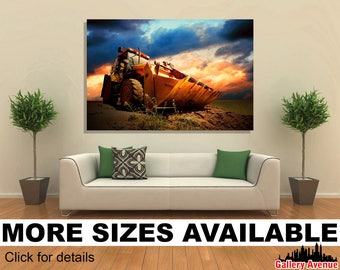 Wall Art Giclee Canvas Picture Print Gallery Wrap Ready to Hang Tractor 2 60x40 48x32 36x24 24x16 18x12 3.2