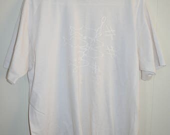 50/50 Hanes 1991 Going in seine fishing-shark t shirt XL