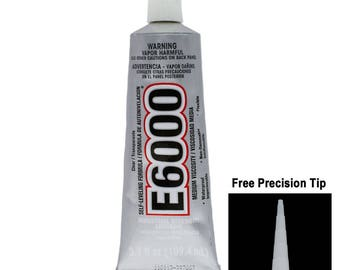 E6000 Industrial Strength Adhesive 3.7oz with Free Precision Tip