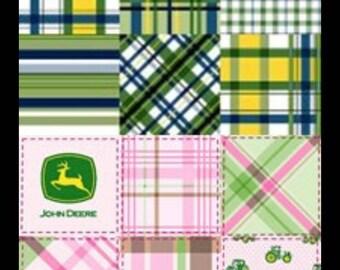 Pink or Green John Deere Crib/Toddler Fitted sheet
