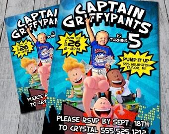 Captain Underpants Party Invite (Digital)