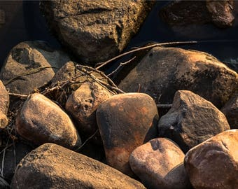 RIVER ROCK 1 | modern fine art photography blank note cards custom books interior wall decor affordable pictures –Rick Graves