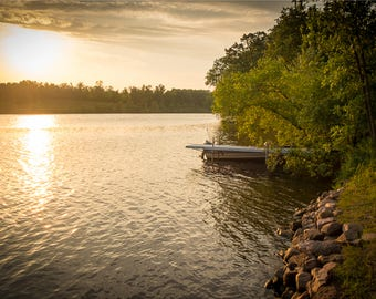 CHIPPEWA RIVER DOCK 1 | modern fine art photography blank note cards custom books interior wall decor affordable pictures –Rick Graves