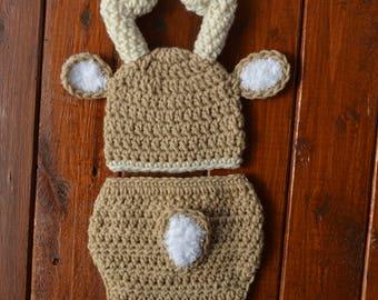 Baby Deer Outfit Crochet Deer Set Deer Hat Baby Animal Hat Deer Baby Props Outfit Crochet Baby Outfit Newborn Deer Outfit Crochet Baby Deer