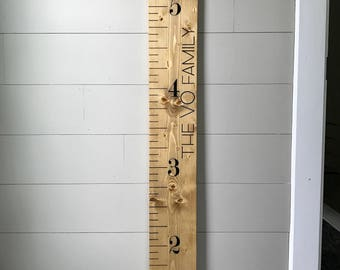 Growth Chart Ruler, Light Stain, Wood Growth Chart, Customized