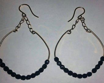 Handmade 14K Gold Filled Onyx Dangle Earrings