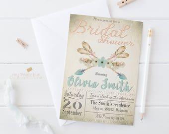 Arrows Bridal Shower Invitation / Digital Printable Birthday Invite for Wedding / DIY Party
