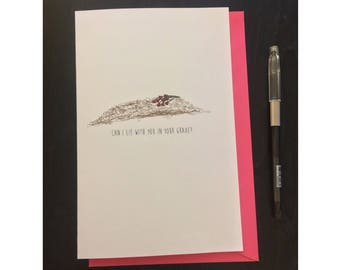 say anything inspired romance card- envelope included