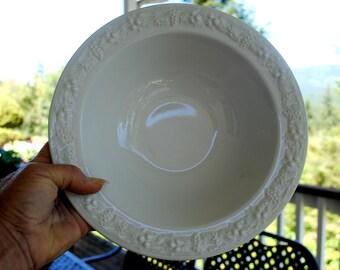 Homer Laughlin Embossed Serving Bowl, Vintage China Bowl, Serving Dish, Homer Laughlin Embossed Fruit Bowl, Dinnerware, Serviceware