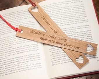 Valentine's Oak Bookmark