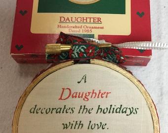 Vintage Hallmark Ornament Daughter 1985
