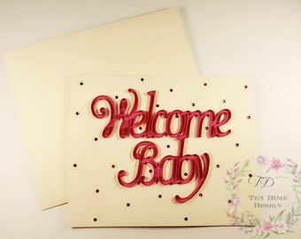 Welcome baby card | Etsy