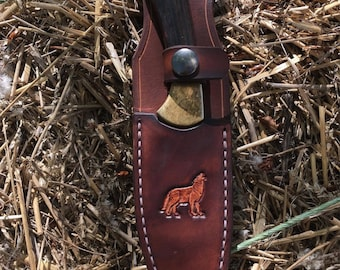 Brown Knife Sheath With Custom Stamp