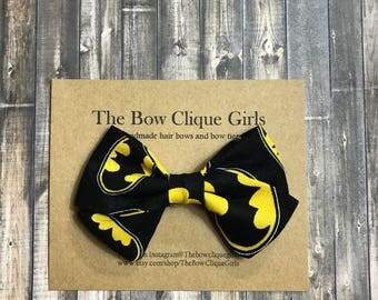 Batman sailor hair bow