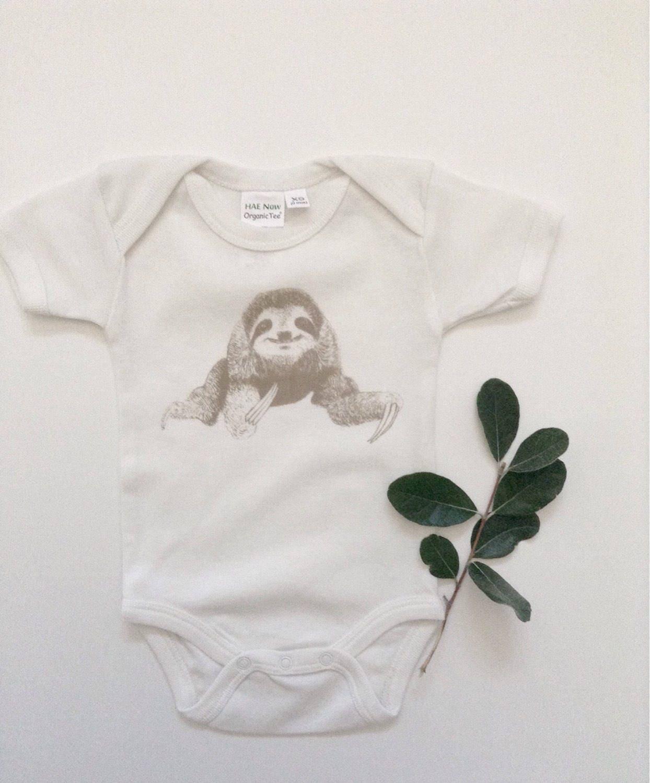 Organic Baby Clothes Boho Clothes Sloth Hipster Baby Girl