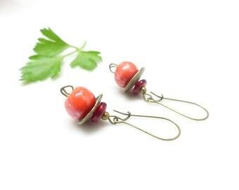 Retro earrings ~ cherry ~