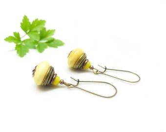 Ethnic earrings ~ Asian Sun ~