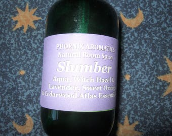 Slumber, Natural Aromatherapy Room Spray, Sleep Spray,  Pillow Spray, Cedarwood Atlas, Sweet Orange, Lavender, Essential Oils, Sleep Aid
