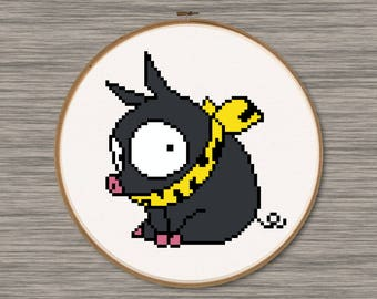 """P-Chan the Pig - PDF Cross Stitch Pattern - Inspired by Japanese Anime """"Ranma 1/2"""""""