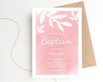 BAPTISM INVITATION, BAPTISM Invite, Boy Baptism Invitation, Girl Baptism Invitation, Baptism Invitation Boy, Baptism Invitation Girl