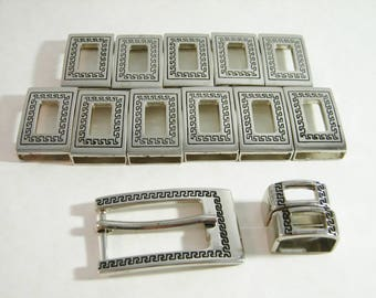 Silver Belt Buckle With Loops