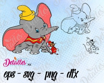 Dumbo Disney SVG Cutting Vector Eps High Quality design files ai eps for Cricut and Silhouette Cameo