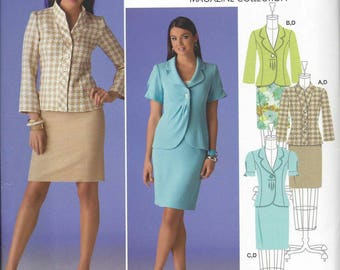 Simplicity 2452 Jacket with front variations and skirt pattern - OOP