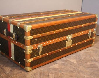 1930's Louis Vuitton Armoire Steamer Trunk In Monogramm ,Double Hanging Section,