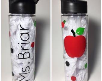 Back to school gift, teacher gift, first day of school, personalized teacher gift, back to school present, teacher water bottle, teacher cup