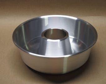 Bundt Cake Pan Aluminum Seamless Hand Spun, Half Recipe, Handmade, New, Metal Spinning,