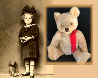Genuine 1972 Vintage Steiff Teddy Bear with Moveable Arms, Legs and Head, 12 Inches Standing, 9 1/2 Inches Sitting, Missing Tag and Button,