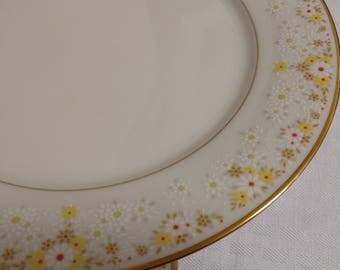 Two (2) NORITAKE Fragrance 7025 Dinner Plates