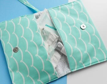 Nappy Bag - Nappy Clutch bag - Changing Bag - Nappy holder - Gender neutral baby gift - New baby gift - Travel Wallet