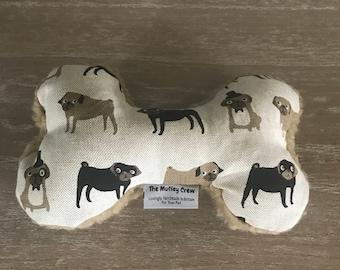 Fenella Smith Pug Fabric Toy Bone