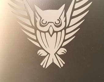Tribal owl decal sticker