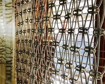 Macrame Curtain//Macrame Wall Hanging//Window Treatment