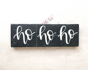 "Reclaimed Wood ""ho ho ho"" Sign Christmas Decor"