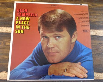 Glen Campbell A New Place in the Sun Vintage Vinyl Record LP 1968