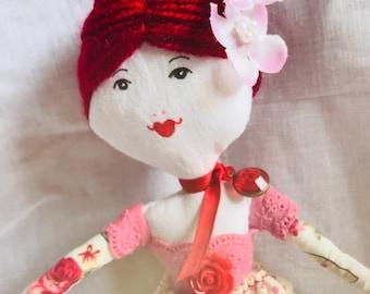 Handmade doll keepsake doll birthday doll cloth doll heirloom doll