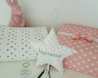 shooting star name or pillow of door patterns stretch Picot lace to hang